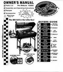 Char Griller Pro Deluxe Charcoal Grill by Char Griller Charcoal Grill W8jj3hp User Guide Manualsonline Com
