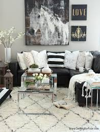 Living Room Black Sofa Home Tour Room Decor Neutral And Living Rooms