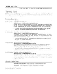 Examples Of Registered Nurse Resumes by Stylist Design Ideas Travel Nurse Resume 4 Example Travel Nurse