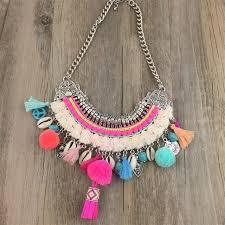 shell necklace images Handmade boho choker necklace beach color cowrie sea shell jpg