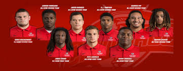 nine red men named to all cciw football team carthage college