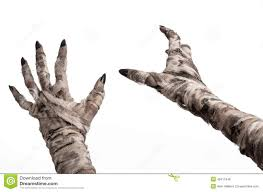 free halloween images on white background halloween theme terrible old mummy hands on a white background