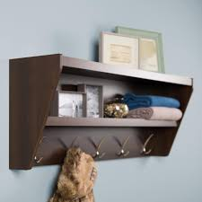 entryway rack prepac 19 2 in x 48 5 in floating entryway shelf and coat rack in