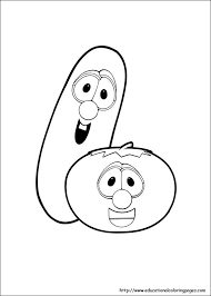 veggie tales coloring pages free for