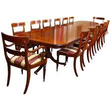 Mahogany Dining Table 14 Ft Three Pillar Mahogany Dining Table And 14 Chairs