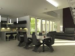 dining room modern minimalist black dining room furniture ideas