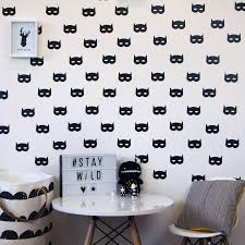 superhero mask wall stickers by parkins interiors superhero mask wall stickers