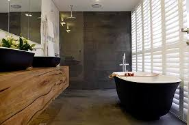 Matte Black Bath And Basins For The Block Josh And Charlottes - Modern ensuite bathroom designs