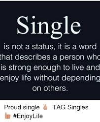 Singles Meme - single is not a status it is a word that describes a person who is