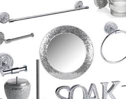 excellent silver sparkle bathroom accessories ideas best