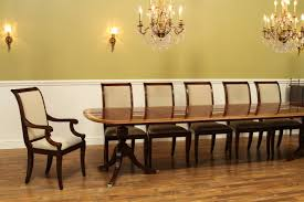 Formal Dining Room Furniture Manufacturers Fine American Finished Mahogany Dining Table Seats 14 People