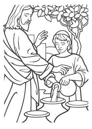 miracles of jesus free coloring pages on art coloring pages