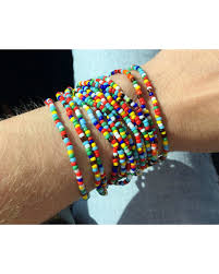 colored bead bracelet images Spectacular deal on multicolored seed bead bracelet wrap bead