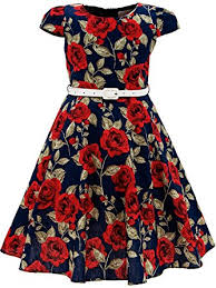 amazon com bonny billy girls classy vintage floral swing kids