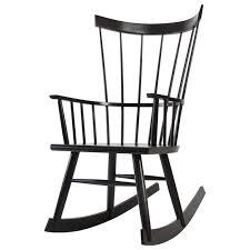 Black Windsor Chairs Colt Rocker Ebonized Stain On Ash Modern Windsor Rocking Chair