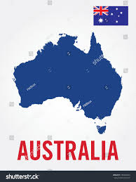 map australia flag set vector stock vector 189368324 shutterstock