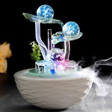 fountain for home decoration water fountain lucky feng shui wheel humidifier home decoration