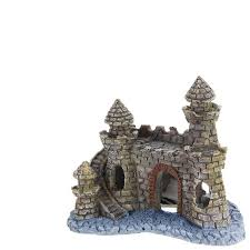 aliexpress buy polyresin castle tower aquarium ornament fish