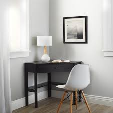 Corner Computer Desk With Drawers Enchanting Black Wood Computer Desk Simple Living Black Wood