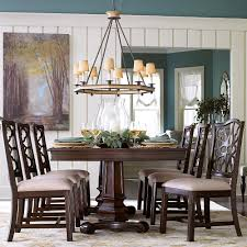 Double Pedestal Dining Room Table Bassett Moultrie Park 7 Piece Double Pedestal Table And Side Chair