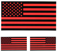 Flag Black Red Yellow Black And Yellow Us American Flag Sticker Us Flag Stickers