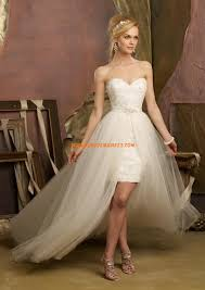 robe de mariã e traine robe de mariage courte avec traine détachable tulle mariage et