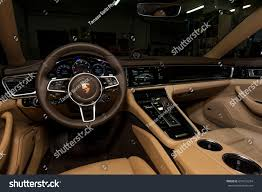 porsche panamera interior 2015 bucharest romania april 06 2017 interior stock photo 674012254