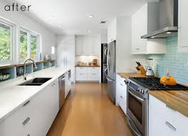 ideas for galley kitchen before and after modern galley kitchen design sponge