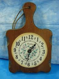 decoration vintage wood cutting board wall clock unque and