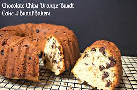 chocolate chips orange bundt cake bundtbakers basic n delicious