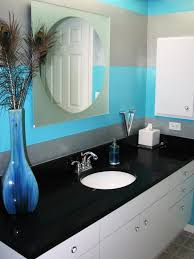 Marvelous Blue Bathroom Decor Super Modern And White Ideas With