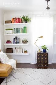 Wall Bookshelves Ideas by Living Room Hanging Wall Shelves For Books Throughout Best 25