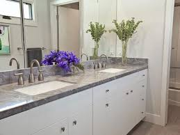 Modern Bathrooms From Stephanie Hatten On HGTV Grey Counter White - White cabinets for bathroom