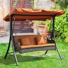 Outdoor Patio Swing by Patio Swing Canopy Cover Black Polished Wrought Iron Based Outdoor