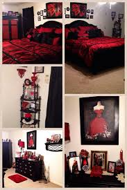 bedroom design red paris themed bedroom with red bedding and many