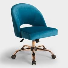 white upholstered office chair aqua desk chair blue velvet cosmo upholstered office