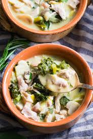 cuisine paleo paleo chicken soup with mushrooms and kale whole30 the