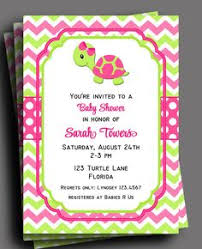 pink turtle birthday invitations turtle baby shower ocean