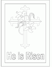 he is risen coloring pages 440106