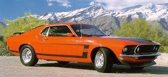 1969 mustang orange car page