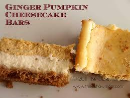 Gingersnap Pumpkin Cheesecake by Ginger Cheesecake Bars Recipe U2014 Dishmaps
