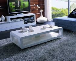 Contemporary White Coffee Table by White