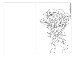 tulip bouquet coloring pages hellokids