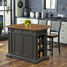 kitchen island with wood top home styles americana grey kitchen island with seating 5013 948