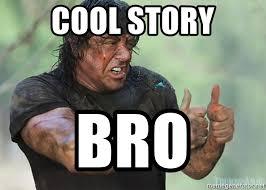 Cool Story Meme - cool story bro rambo meme mne vse pohuj