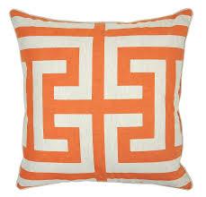 interior orange and brown accent pillows burnt orange sofa