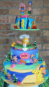 bubble guppies birthday cake with fishbowl custom cakes