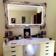 Vanity Set With Lighted Mirror Vanities Makeup Vanity Mirror With Lights Ikea Image Of