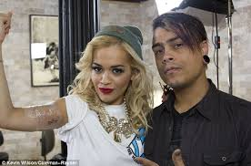 inner arm tattoos female rising star rita ora proudly shows off her latest tattoo daily