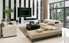 home design windows and light gray fabric sofa and black wooden